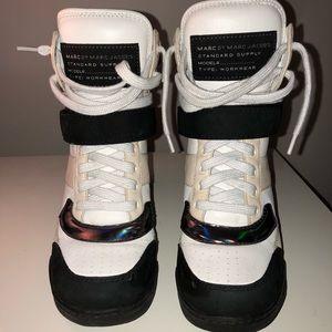Marc Jacobs hightop wedge sneakers